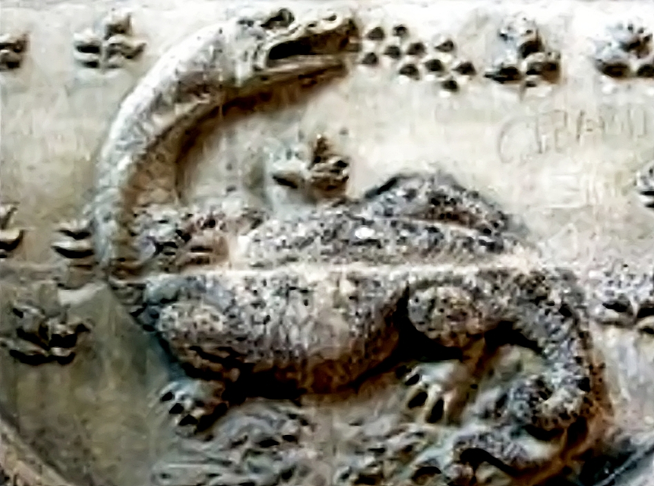 Древнее изображения динозавров