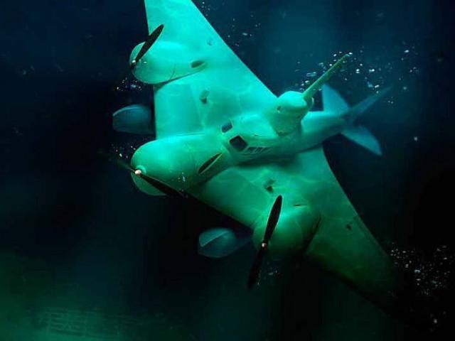 поиск подводной лодки с самолета