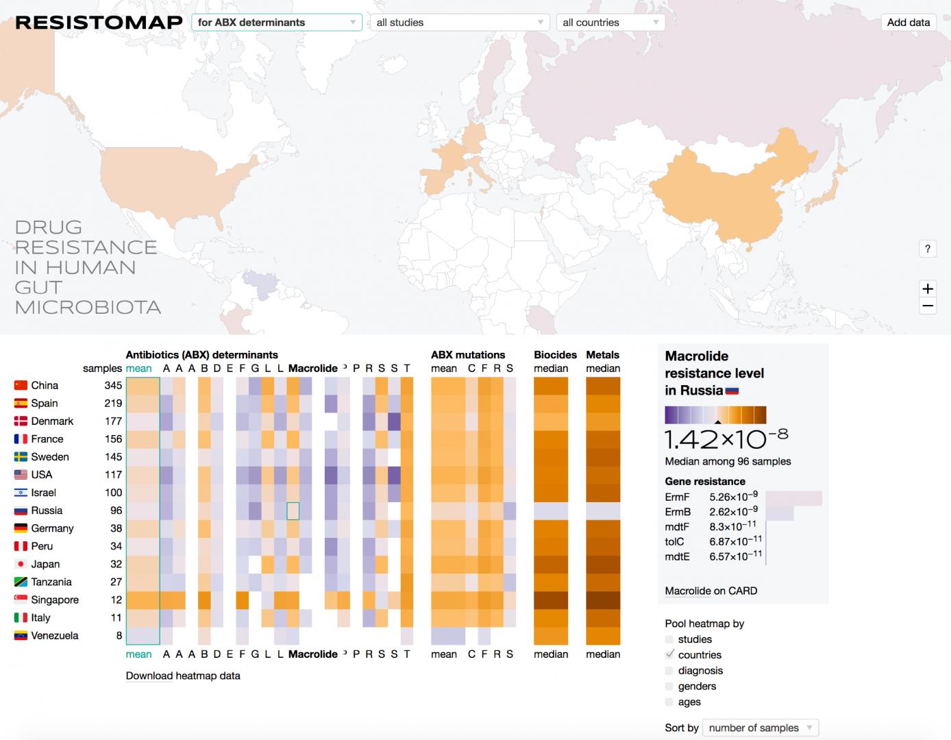 Интерактивная карта ResistoMap