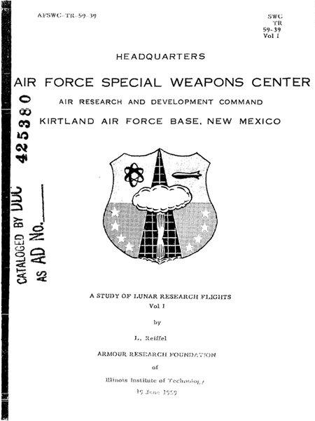 A Study of Lunar Research Flights — Volume I (русс. Изучение исследовательских полётов на Луну. Том I). Credit: ARF.