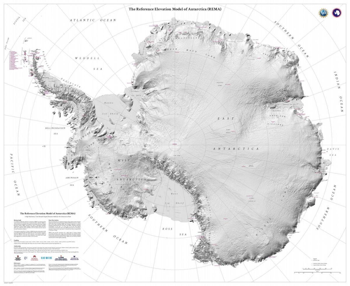 Антарктида нановой карте видна внепревзойденных деталях / © The Ohio State University