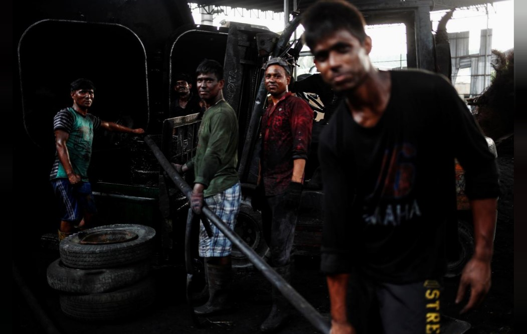 Переработка старых шин в Индии