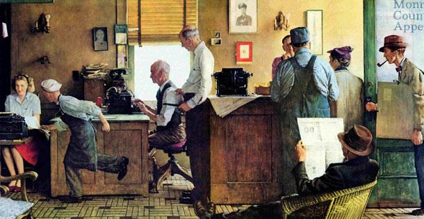 Норман Роквелл «Визит Нормана Роквелла к редактору», 1946